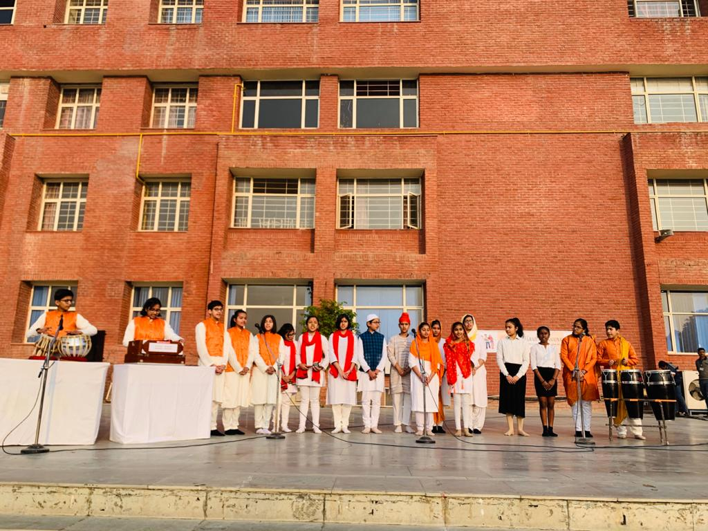 All Faith Prayer by students of Middle and Senior wing