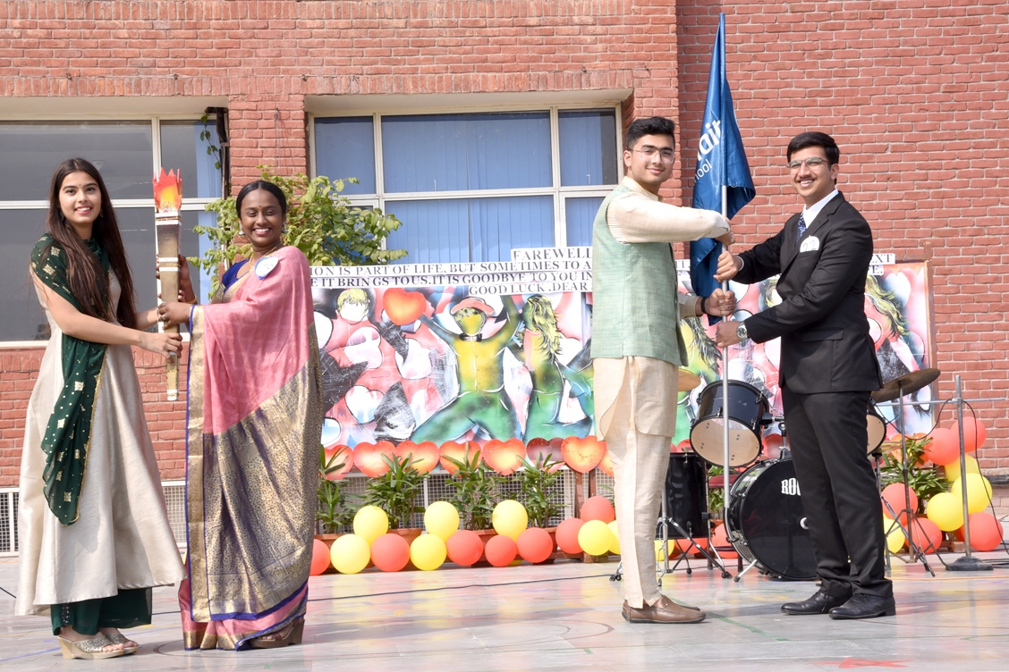 Handing over of School Flag and Torch of wisdom