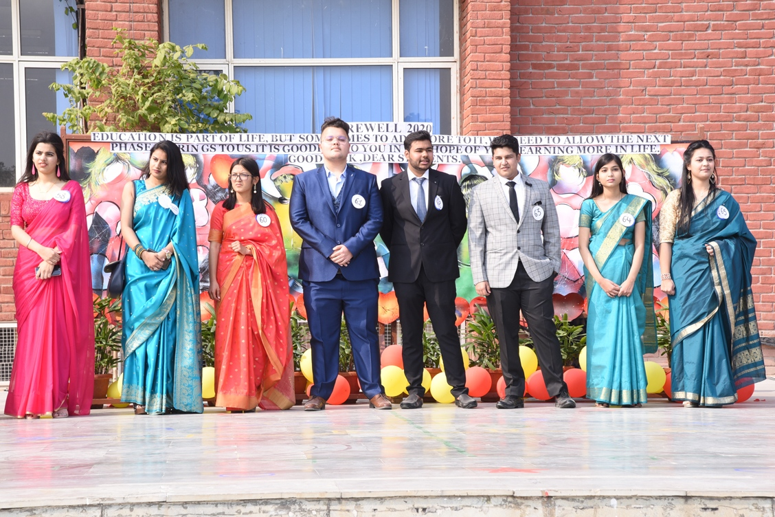 Smart and elegant class XII students