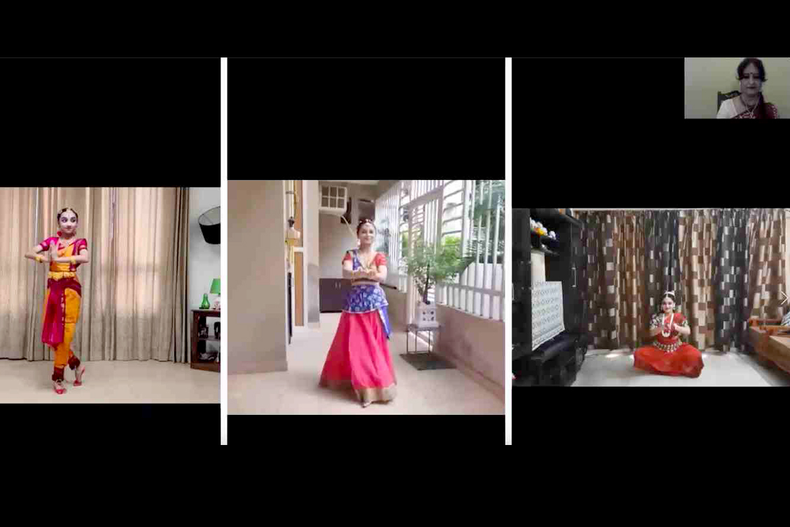 Classical fusion dance performance