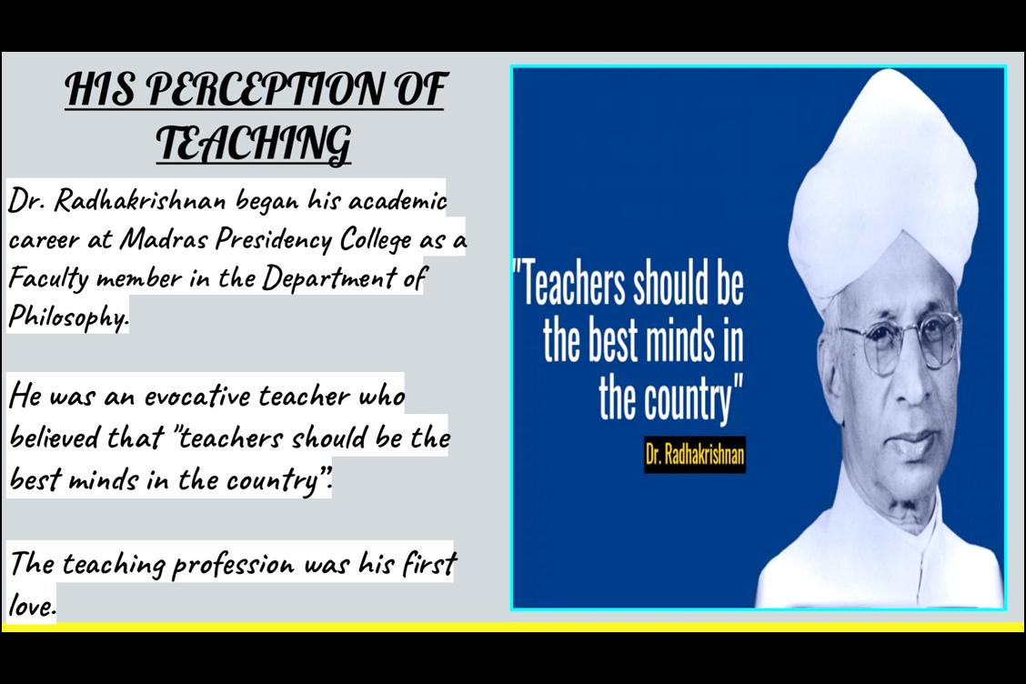 A tribute to Dr. S. Radhakrishnan