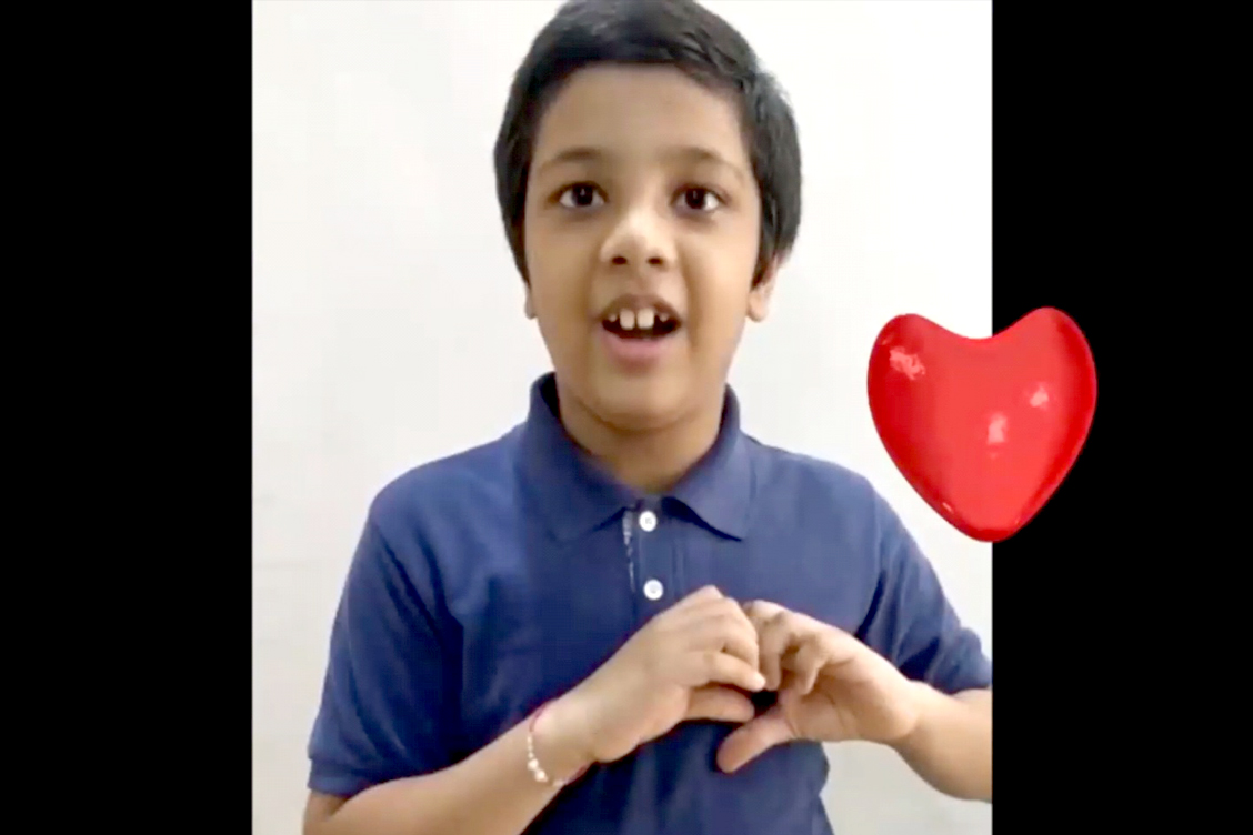 Message of the little hearts