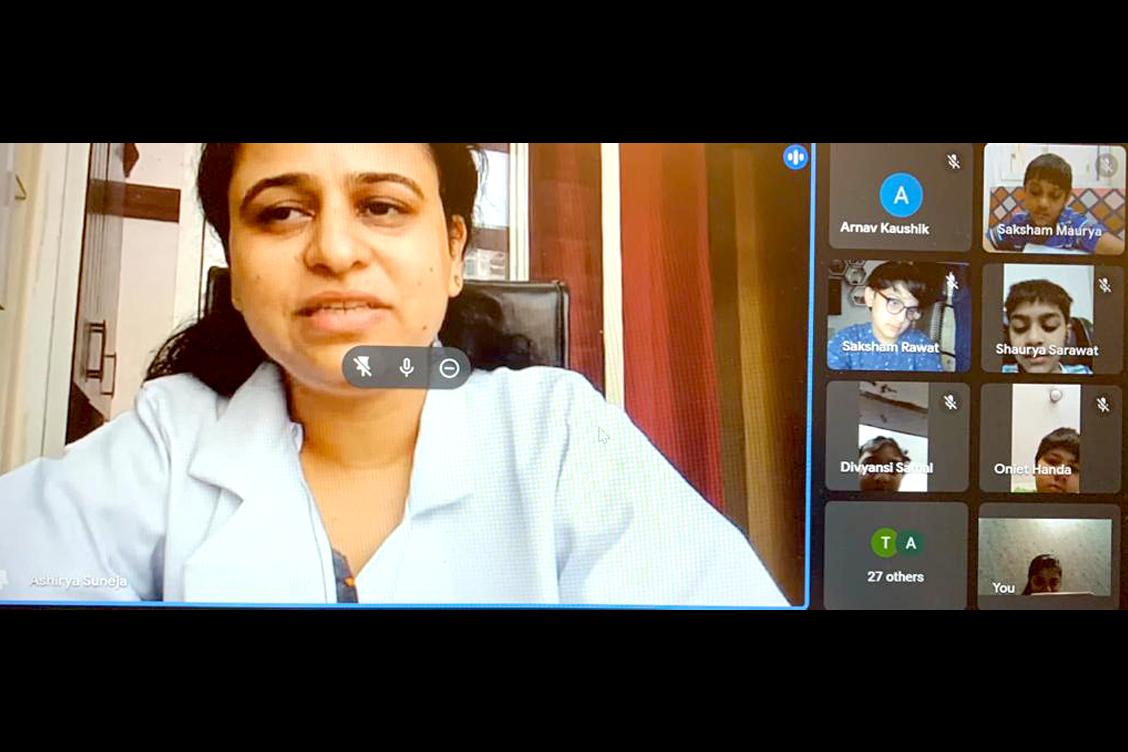 Dr.-Shweta-Suneja-sharing-great-tips-to-young-warriors